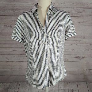 New York & Company Womens XL Button Front Top